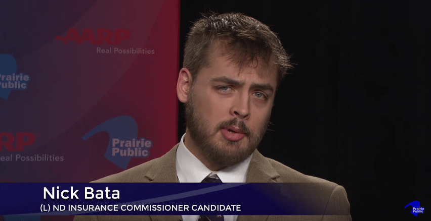 Nick Bata, Libertarian, North Dakota, Insurance, Commissioner